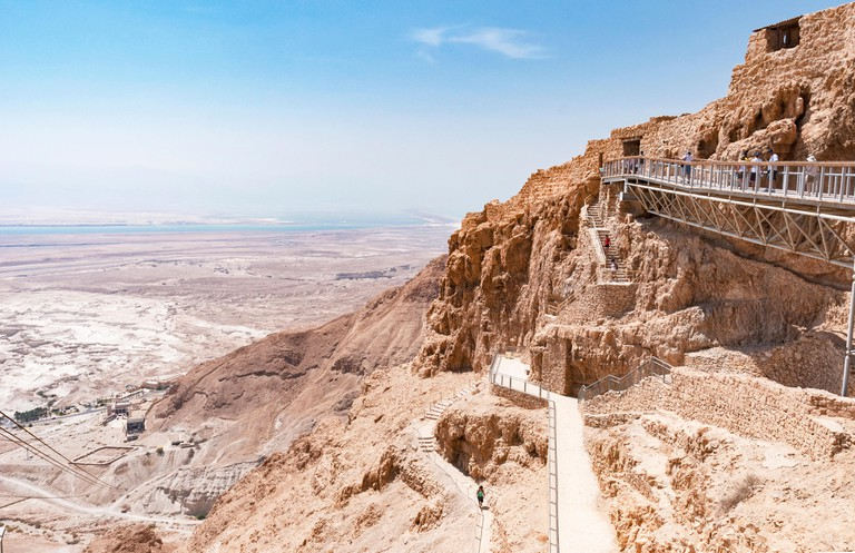 Masada fortress overlooking the Dead Sea.