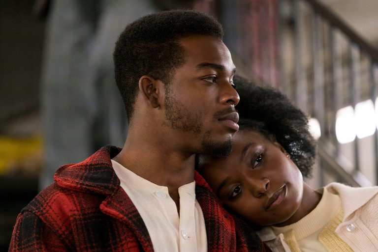 Stephan James as Fonny and KiKi Layne as Tish in 'If Beale Street Could Talk' Film - 2018.