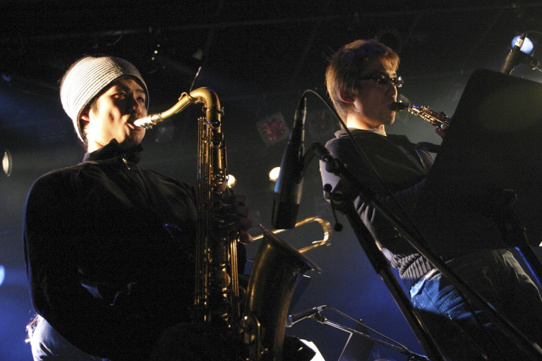Musicians play at the Liquid Room, Tokyo