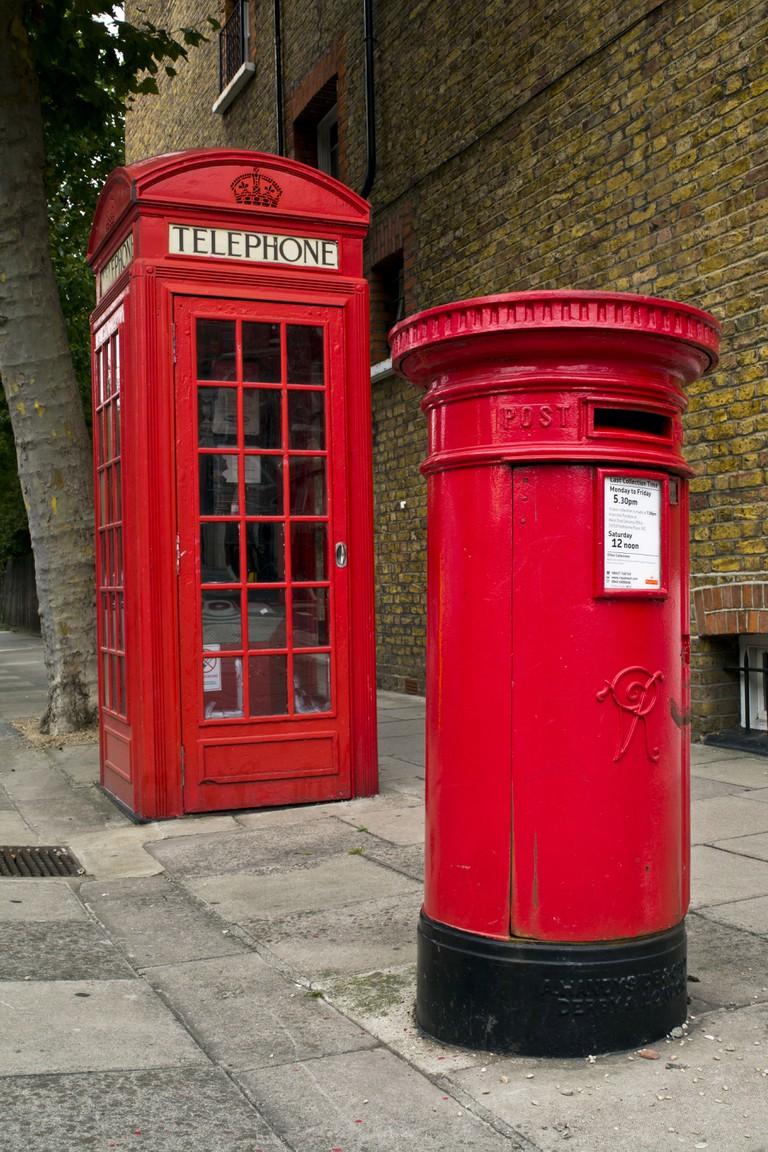 """A """"type B"""" postbox, London"""