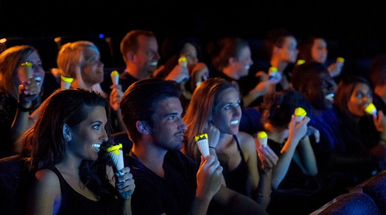 World's First Glow In The Dark Cornetto Tested By Cinema Audience, 5 August, London, Britain