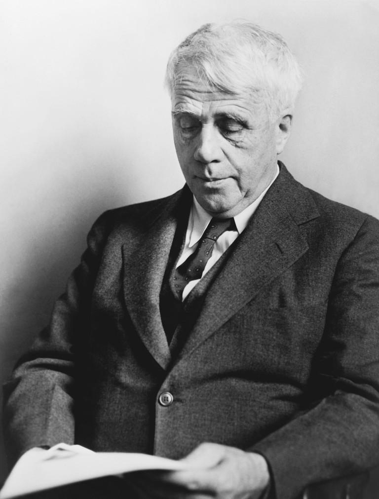 Poet Robert Frost.