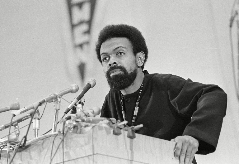 Poet and social activist Amiri Baraka speaking during the Black Political Convention in Gary, Indiana, USA.