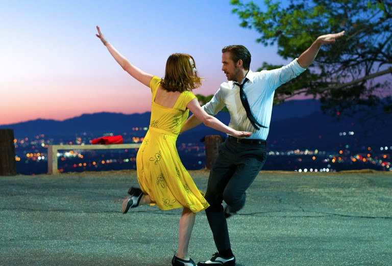 Emma Stone and Ryan Gosling in 'La La Land' Film - 2016.