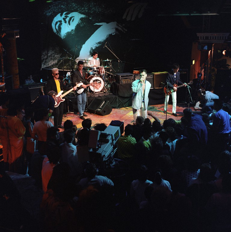 The Smiths performing during 'The Tube' TV show, UK.