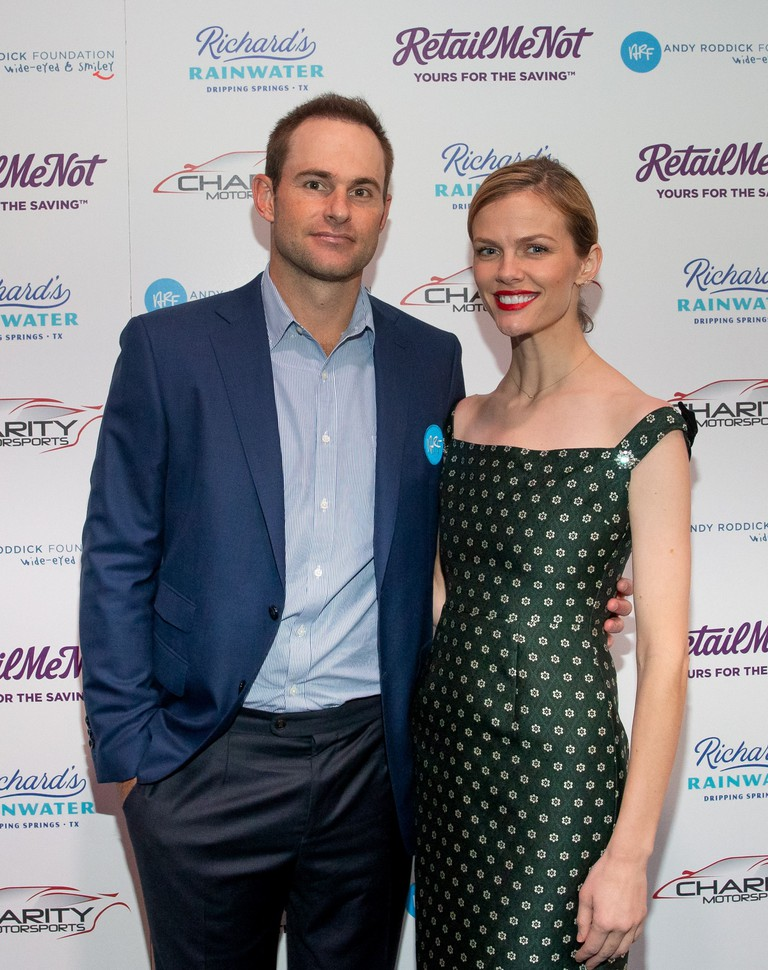Founder Andy Roddick and his wife, Brooklyn Decker at the 2018 Andy Roddick Foundation Gala, Austin, USA.