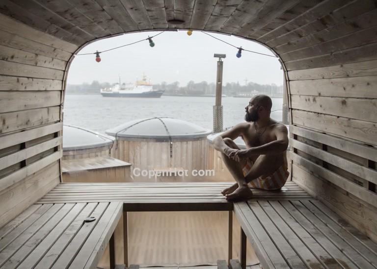 Cassam experiencing CopenHot in Copenhagen. Still from Beyond Hollywood series. 2019, Denmark.