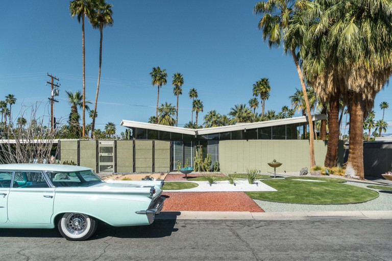 Residential Desert Architecture, Palm Springs, California.