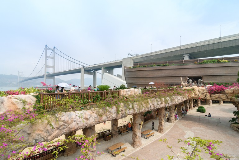 Noah's Ark tourist attraction located on Ma Wan Island, Hong Kong