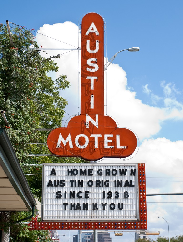 Landmark Austin Motel in Austin, Texas, USA.