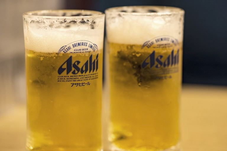 Asahi Japanese beer is a perfect accompaniment to dinner