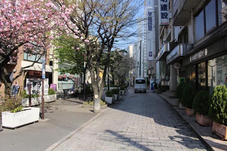 Street view from Jiyugaoka, Tokyo, Japan.