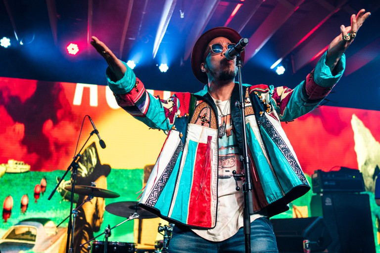 Signer, songwriter, and rapper Anderson Paak performs at a concert during SXSW 2016 in Austin, Texas, USA.