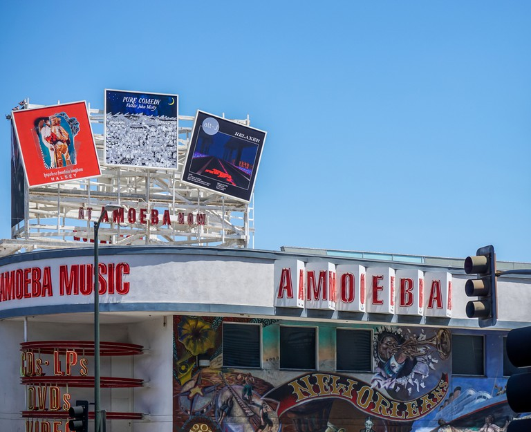 Amoeba music record store in Hollywood, Los Angeles.