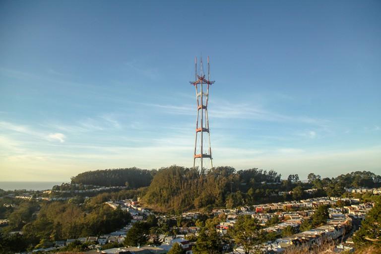 View of twin peak San Francisco, California.
