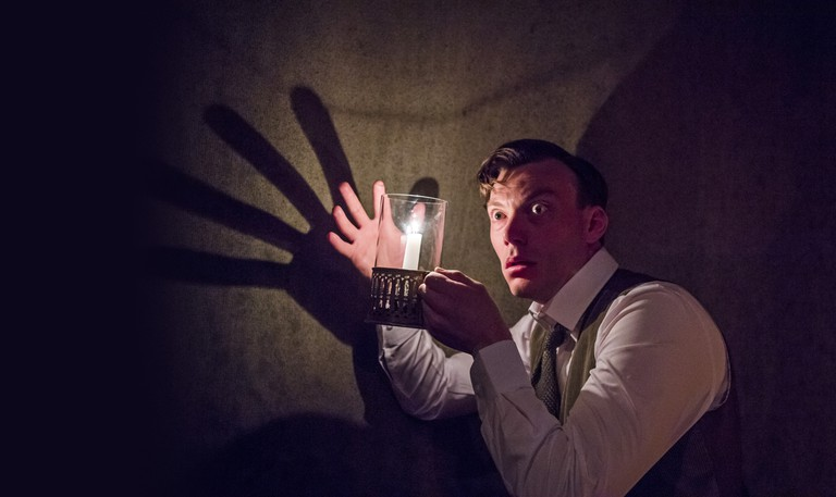 7. THE WOMAN IN BLACK. Mark Hawkins 'The Actor'. Photo by Tristram Kenton