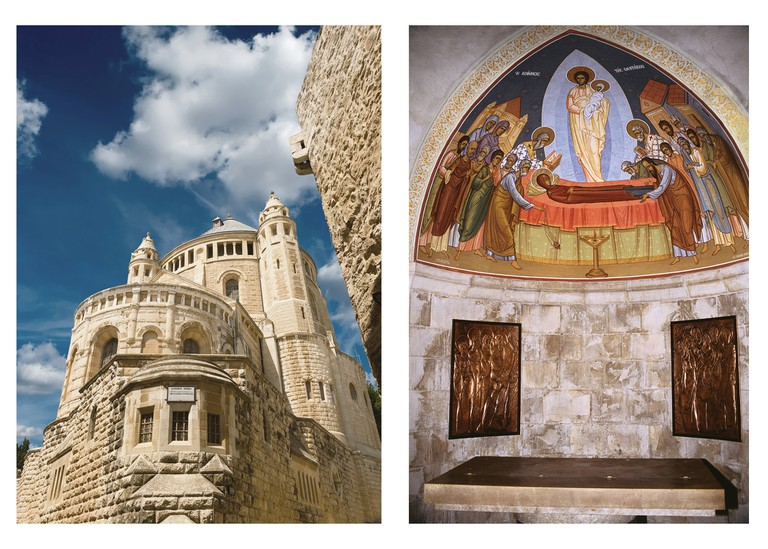 Abbey of Dormition or known as Abbey of Hagia Maria Sion in the Armenian Quarter of Jerusalem, Mount Zion, Israel