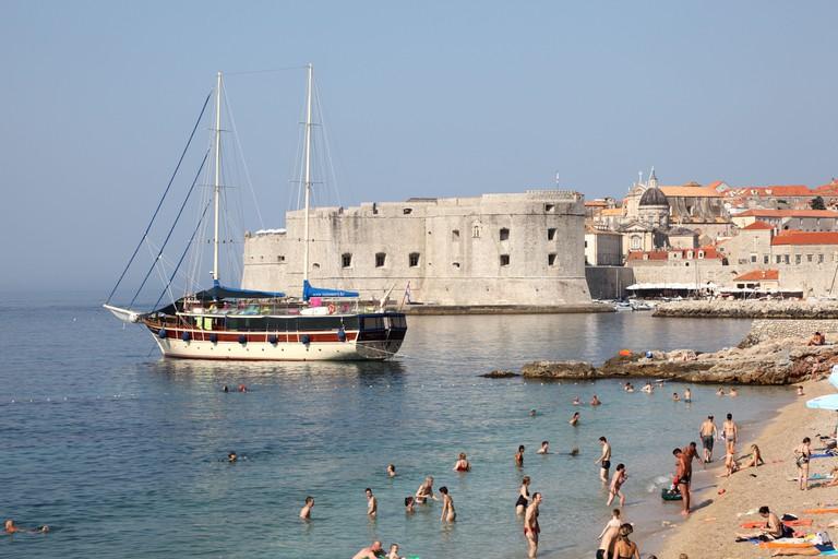 Beach in Dubrovnik, Croatia