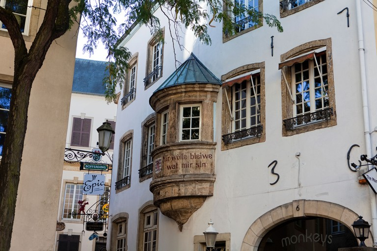 Cobblestone street in Luxembourg City