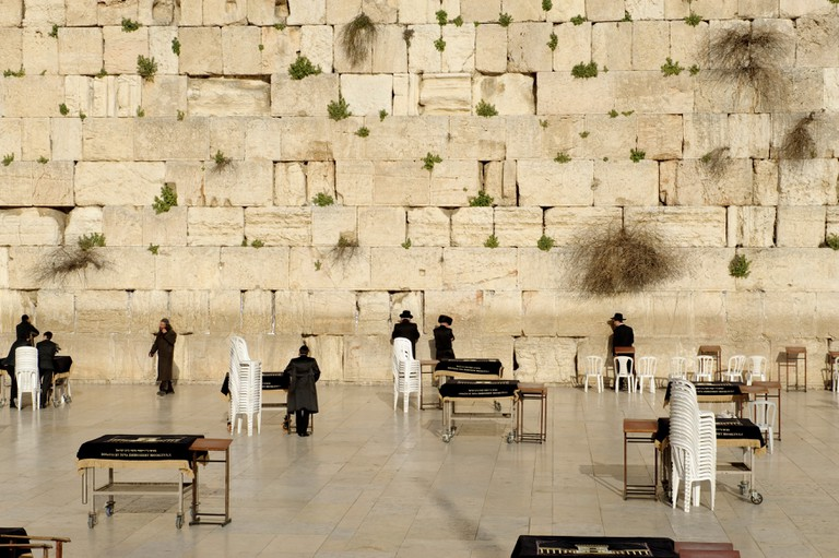 People visit the Wailing Wall in Jerusalem, Israel