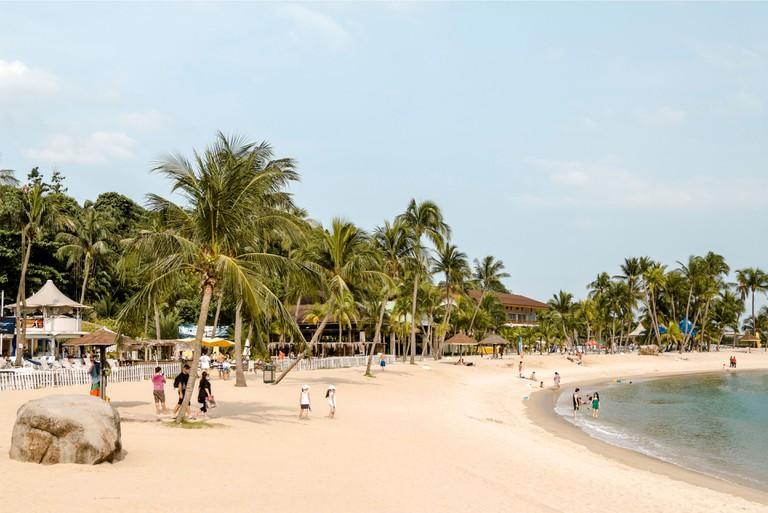 Siloso Beach on Sentosa Island, Singapore