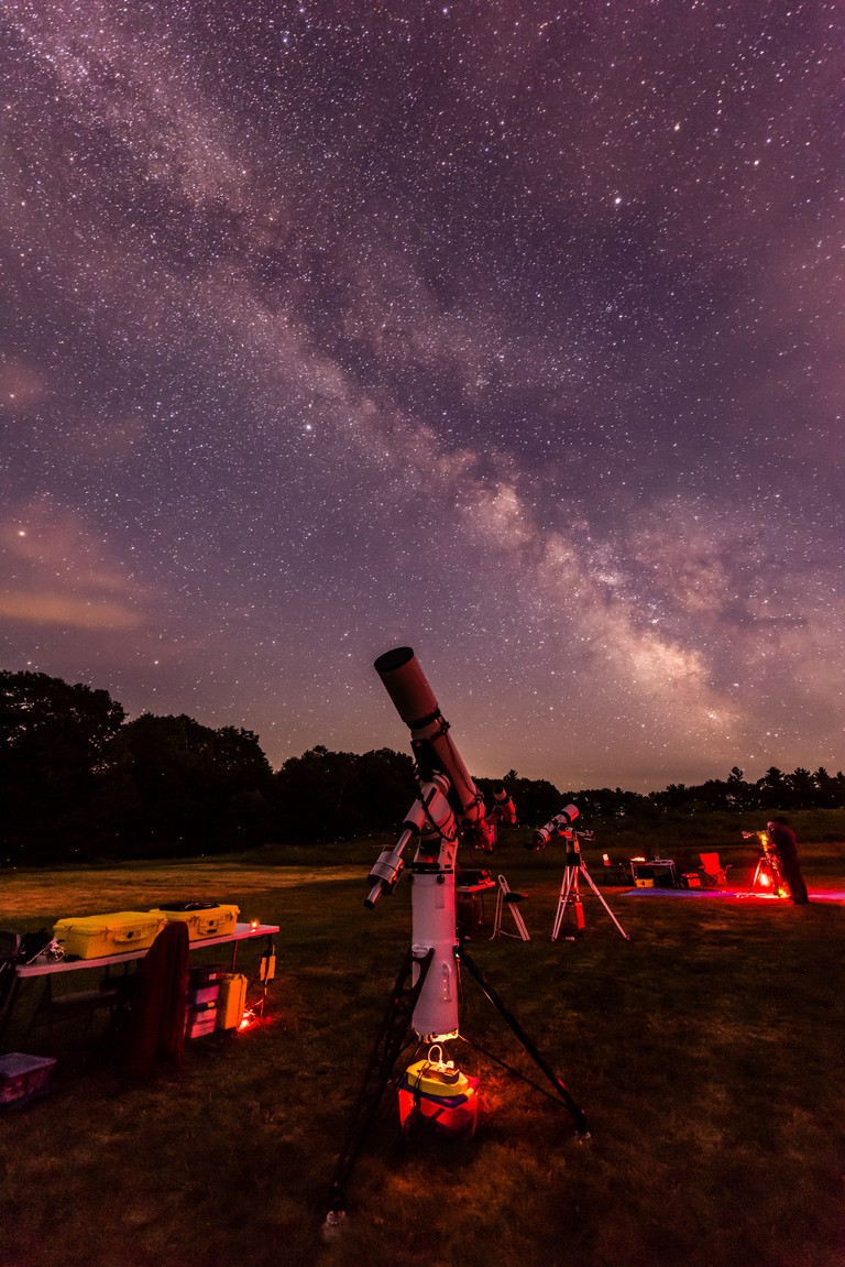An Eric B Scope, milky way shot at the Maine Astronomy Retreat