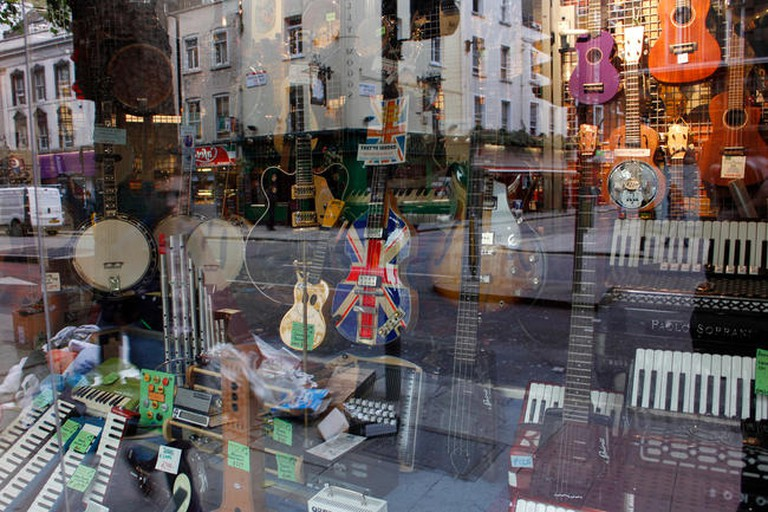 There are a number of music shops on Denmark Street