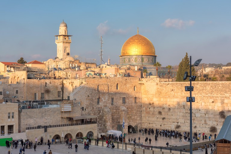 A view of Temple Mount in the old city of Jerusalem.