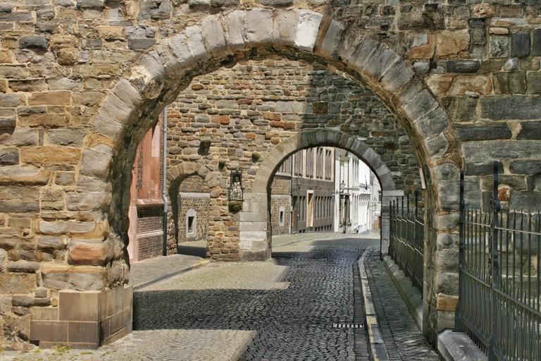 Stone arch in Maastricht, Netherlands