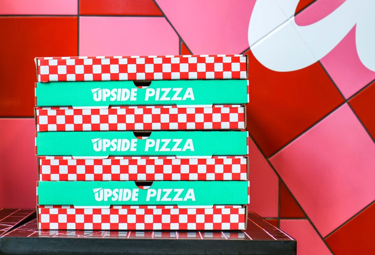 Upside Pizza Boxes