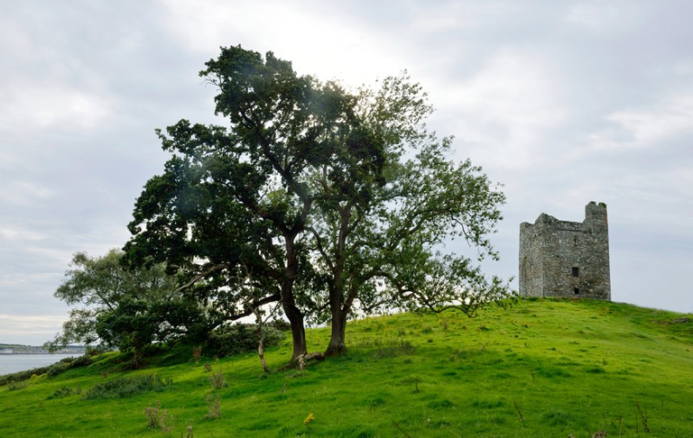 Ireland, Ulster, County Down, Downpatrick: Audley s Castle, one of the TV series Game of Thrones' filming locations.