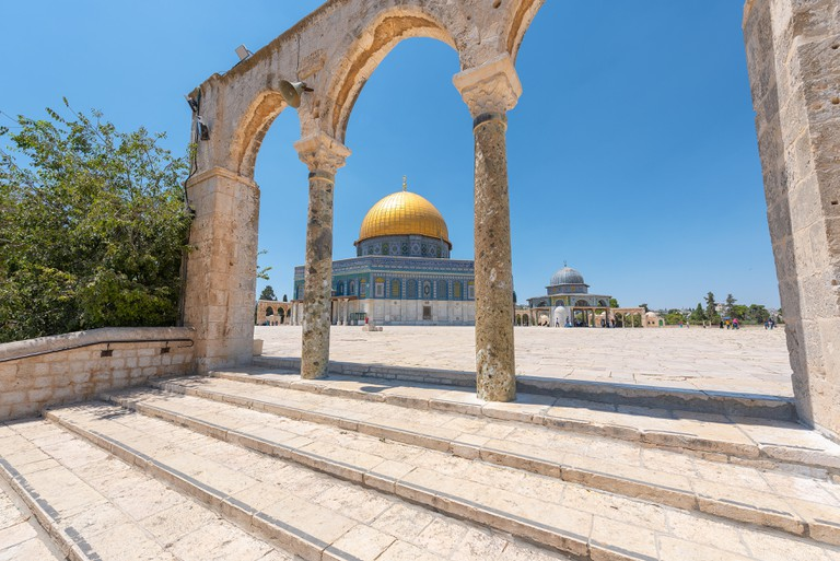 Dome of the Rock, Islamic shrine located on the Temple Mount in the Old City of Jerusalem, Israel