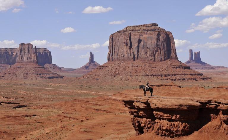 Viewpoint John Ford's Point, Monument Valley Navajo Tribal Park, Arizona, Utah, USA.