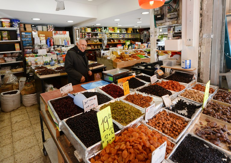 A colorful spice shop at the Levinsky market in the Florentin neighborhood in Tel-Aviv.