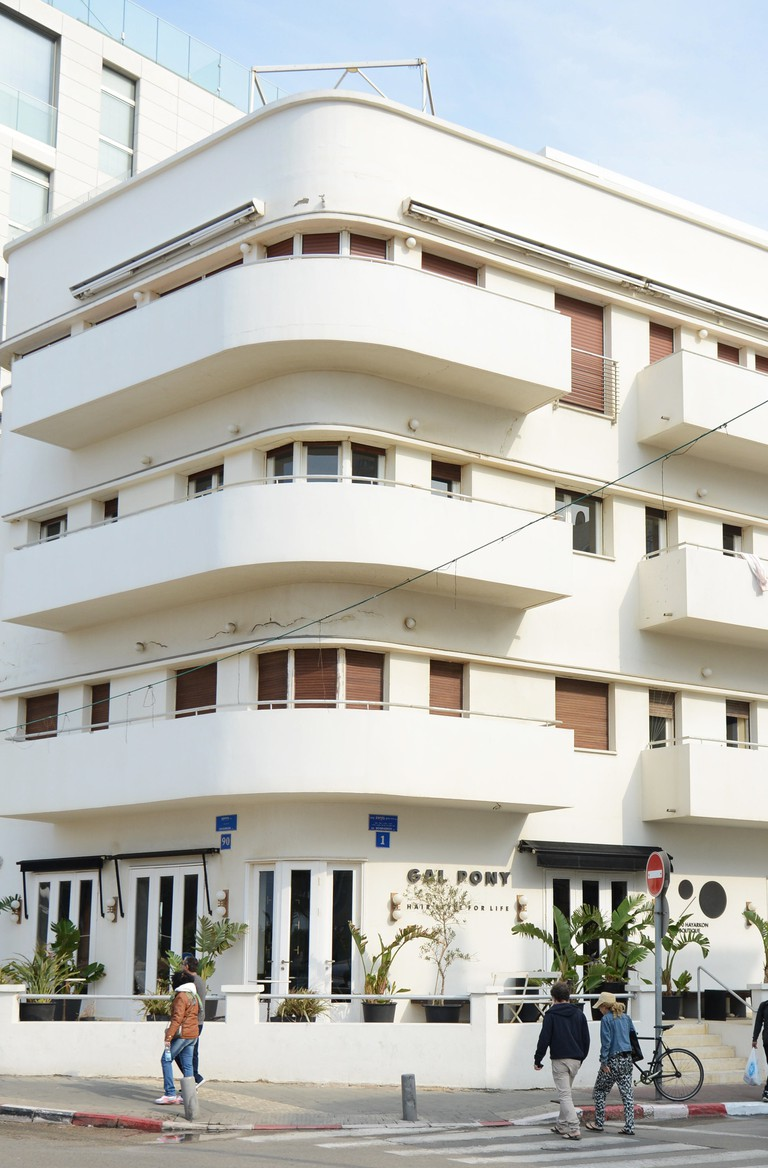 A beautiful 1930's Bauhaus building in Tel-Aviv.