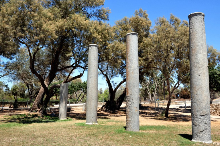 Pillars in Ashkelon National Park