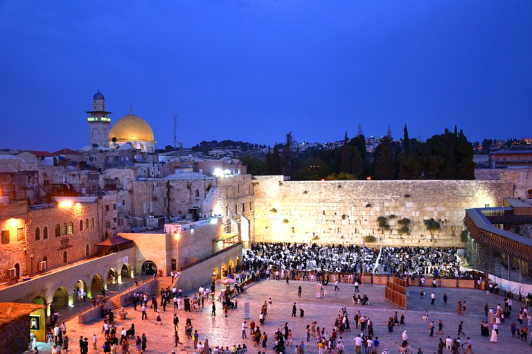 The Western Wall is a remnant of the Jewish Holy Temple from biblical times