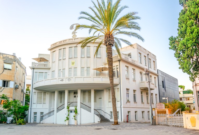 Old town hall called beit Ha'ir at Bialik square in Tel Aviv, Israel