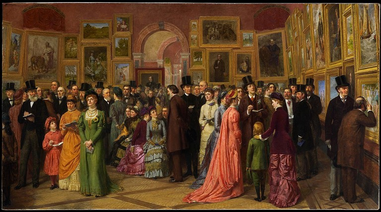 'A Private View at the Royal Academy' by William Powell Firth