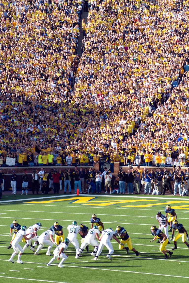University of Michigan Wolverines football game, Ann Arbor, Michigan.