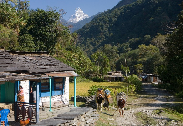 Shauli Bazaar, Annapurna Conservation Area, Nepal