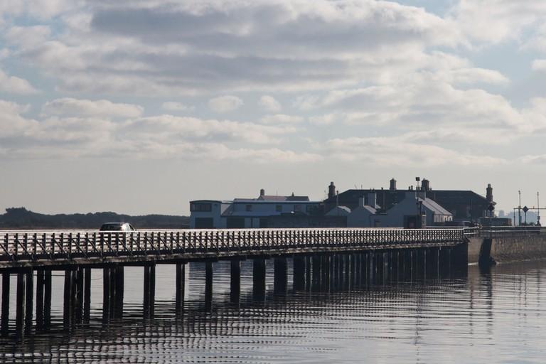 Stroll along Clontarf's wooden pier