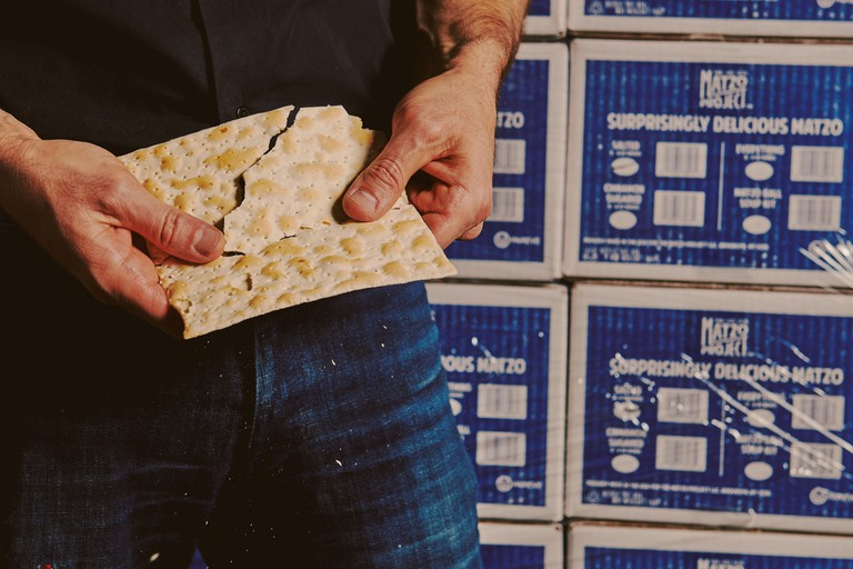 The matzo also comes in bite-size chip format, perfect for dunking into hummus or topping with slices of cheese