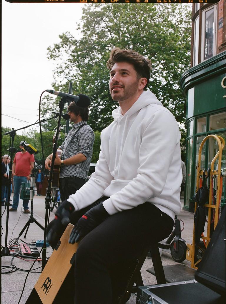Nathan Misischi on Grafton Street, Dublin