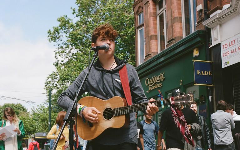 Pádraig Cahill on Grafton Street, Dublin