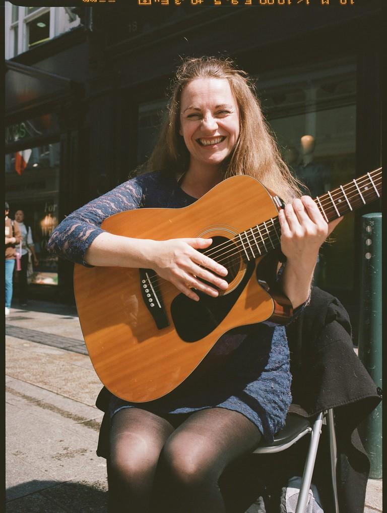 Marie Keane on Grafton Street, Dublin
