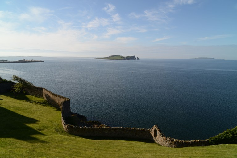Fantastic view from the cliff path in Howth, Dublin,