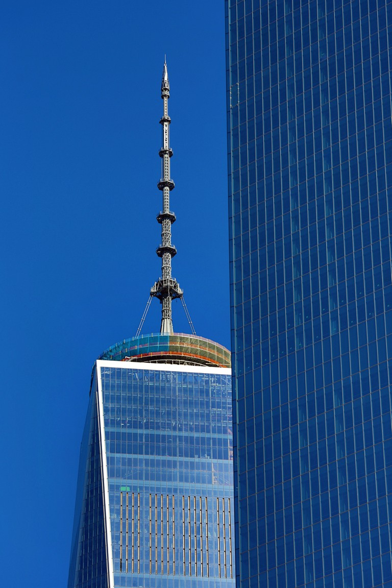 One World Trade Center ( 1 WTC ) building, New York.
