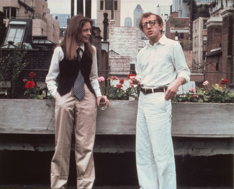 Director Woody Allen and Diane Keaton for Annie Hall 1977 (editorial use only)