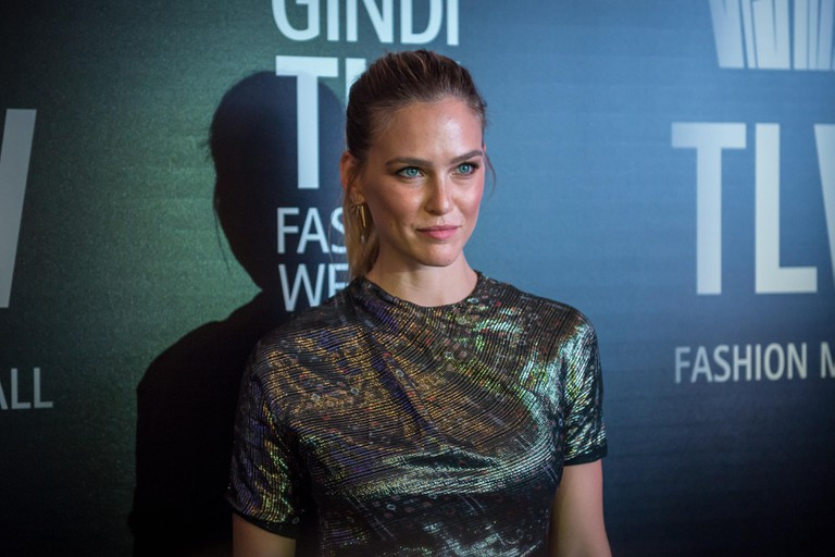 Israeli model Bar Refaeli poses for photo during opening gala of Gindi TLV fashion week on 18 th October in Tel Aviv, Israel